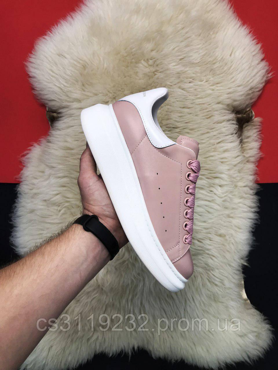 Женские кроссовки Pink White (розовые)
