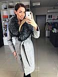 Женское зимнее шерстяное пальто с меховым воротником (в расцветках), фото 5