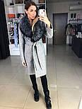 Женское зимнее шерстяное пальто с меховым воротником (в расцветках), фото 6