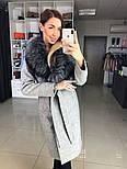 Женское зимнее шерстяное пальто с меховым воротником (в расцветках), фото 7