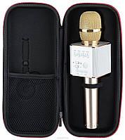 Беспроводной микрофон караоке Q9 с чехлом Bluetooth динамик MP3 Блютуз