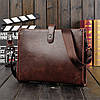 Мужская кожаная сумка-портфель. Модель 014