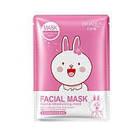 Увлажняющая маска с экстрактом цветков вишни BIOAQUA Facial Mask Animal Rabbit, фото 1
