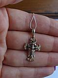Золотой крест с белым цирконием, фото 9