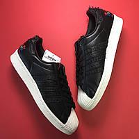 Кроссовки Adidas Superstar Black White мужские / женские