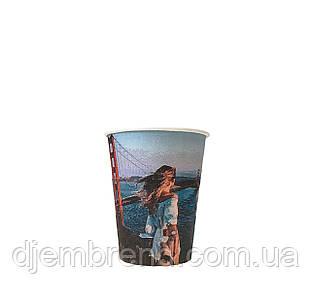 Бумажные стаканы города 250мл 50шт.уп (1ящ/40уп/2000шт) (КР77)