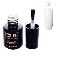 Гель-лак для ногтей маникюра 7мл Rosalind, шеллак, 02 белый