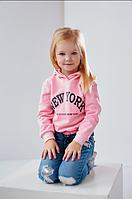 Розовый свитшот на девочку 4-7 лет