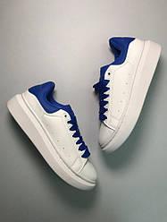 Женские кроссовки White Blue (белые)