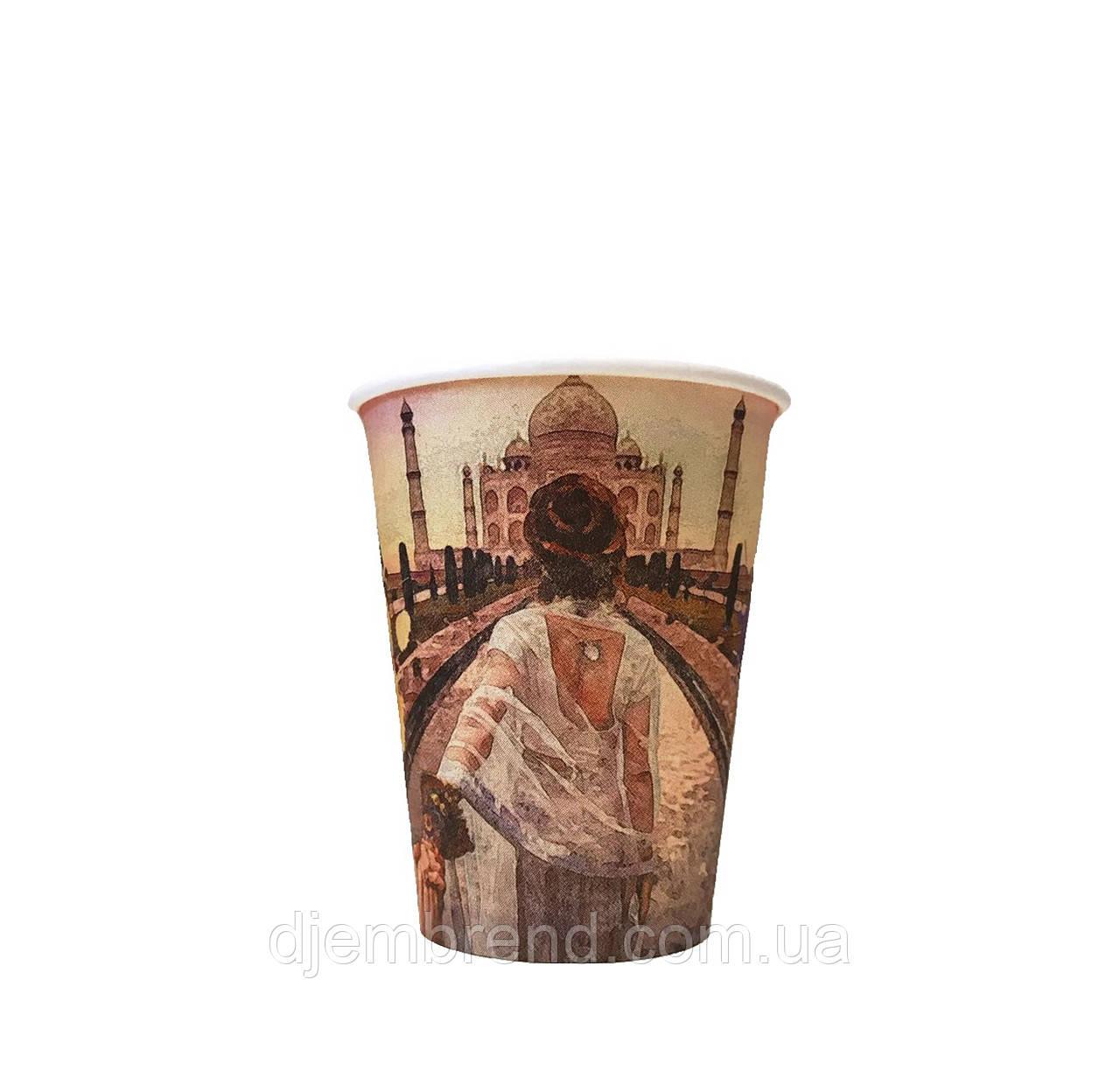 Бумажные стаканы города 340мл 50шт.уп (1ящ/35уп/1750шт) (КР79)
