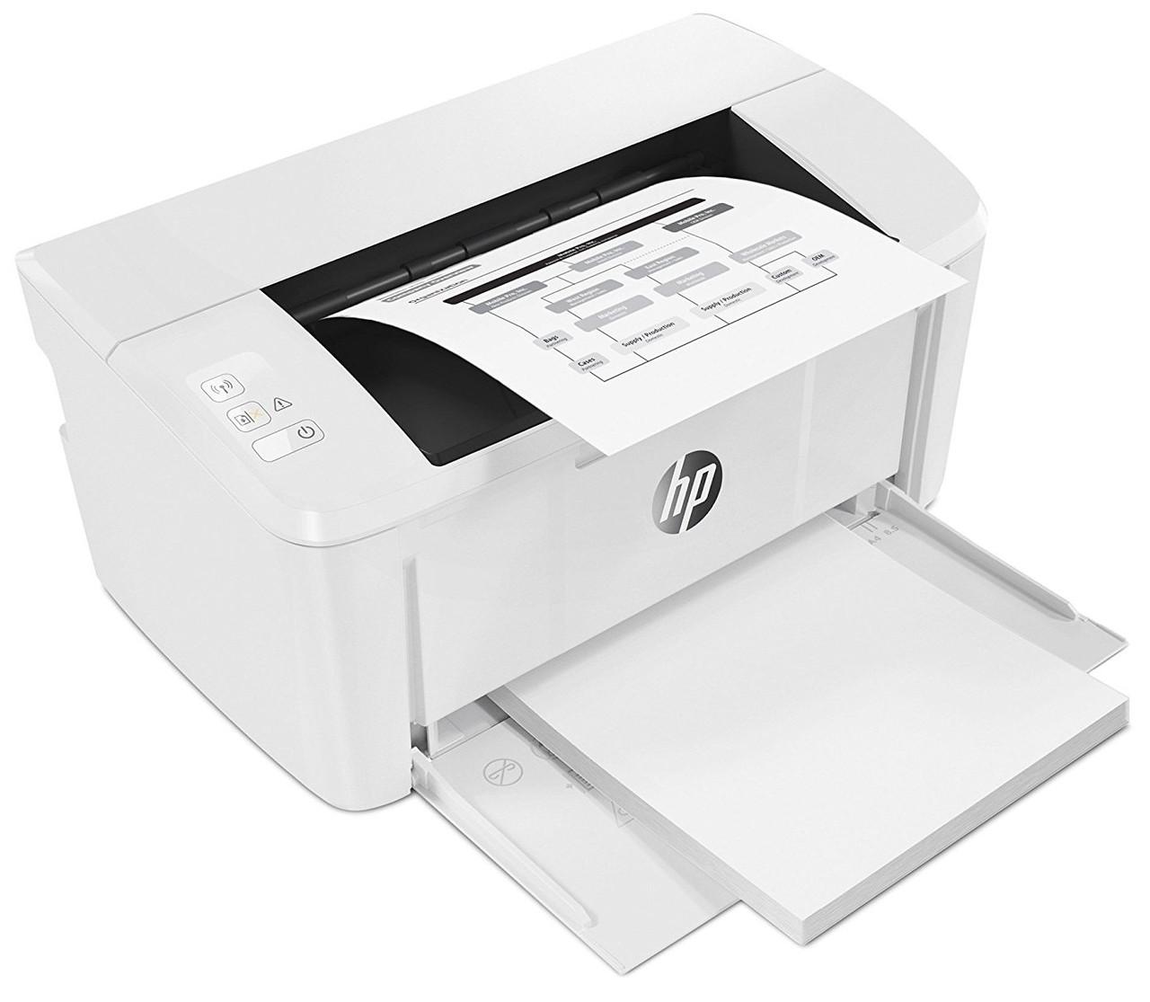 Лазерный принтер HP LaserJet Pro M15w (W2G51A) c поддержкой Wi-Fi, для дома и офиса, черно-белый