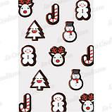 Полиэтиленовая форма с переводным рисункам для шоколада «Фигурные рождественские изделия» Pavoni T822 (1 шт.), фото 2