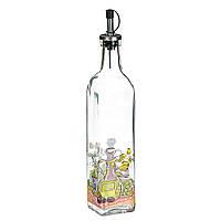 Стеклянная бутылка для масла и уксуса (550 мл.), фото 1