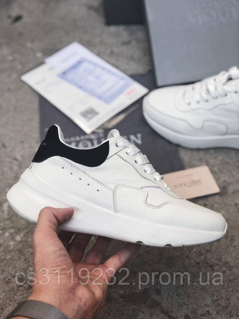 Женские кроссовкиAlexander McQueen Wedge Sole Runner (белые)