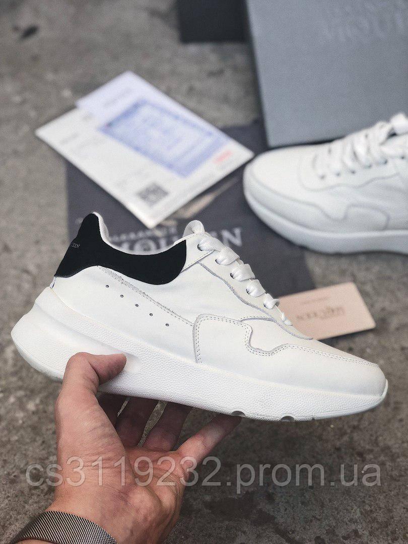 Жіночі кросівки Alexander McQueen Wedge Sole Runner (білі)