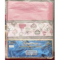 Молдавское двуспальное-макси постельное белье Бязь Tirotex - Love (pink)