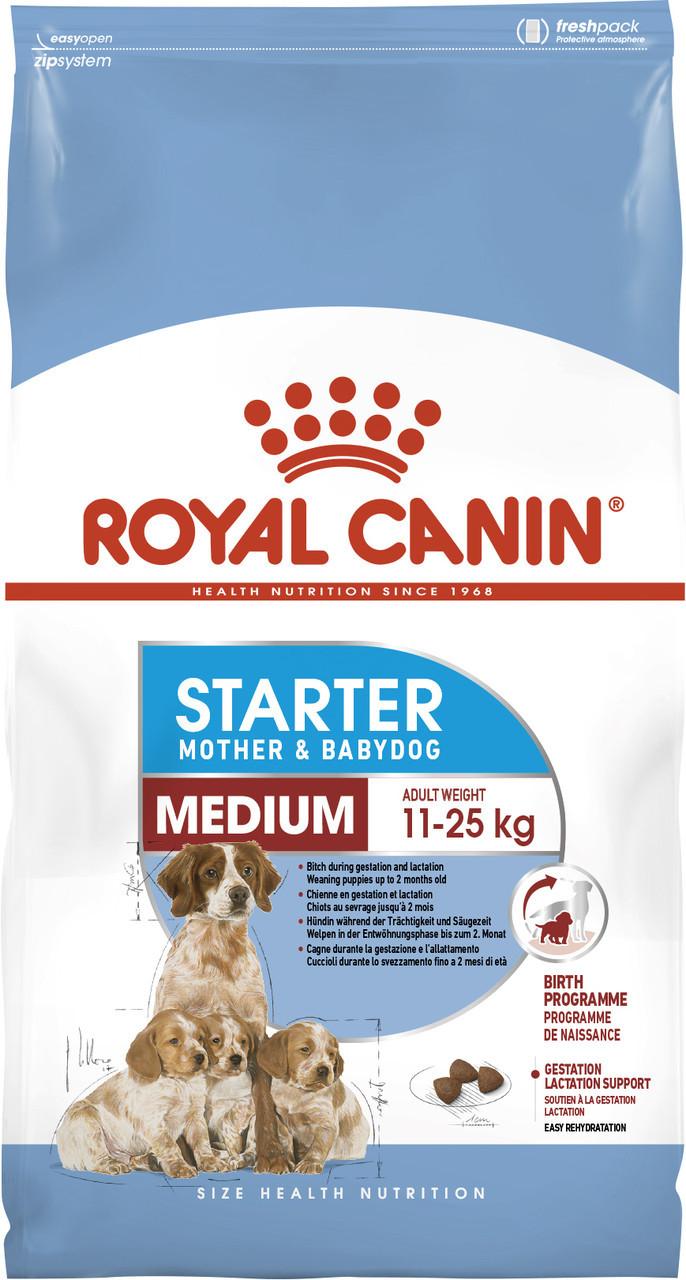 Сухий корм для цуценят середніх порід Royal Canin Medium Starter 12 кг