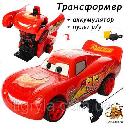 Машинка трансформер Молния Маквин на радиоуправлении герой м/ф Тачки, фото 2