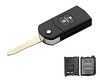 Ключ выкидной для Mazda 2 кнопки тип1