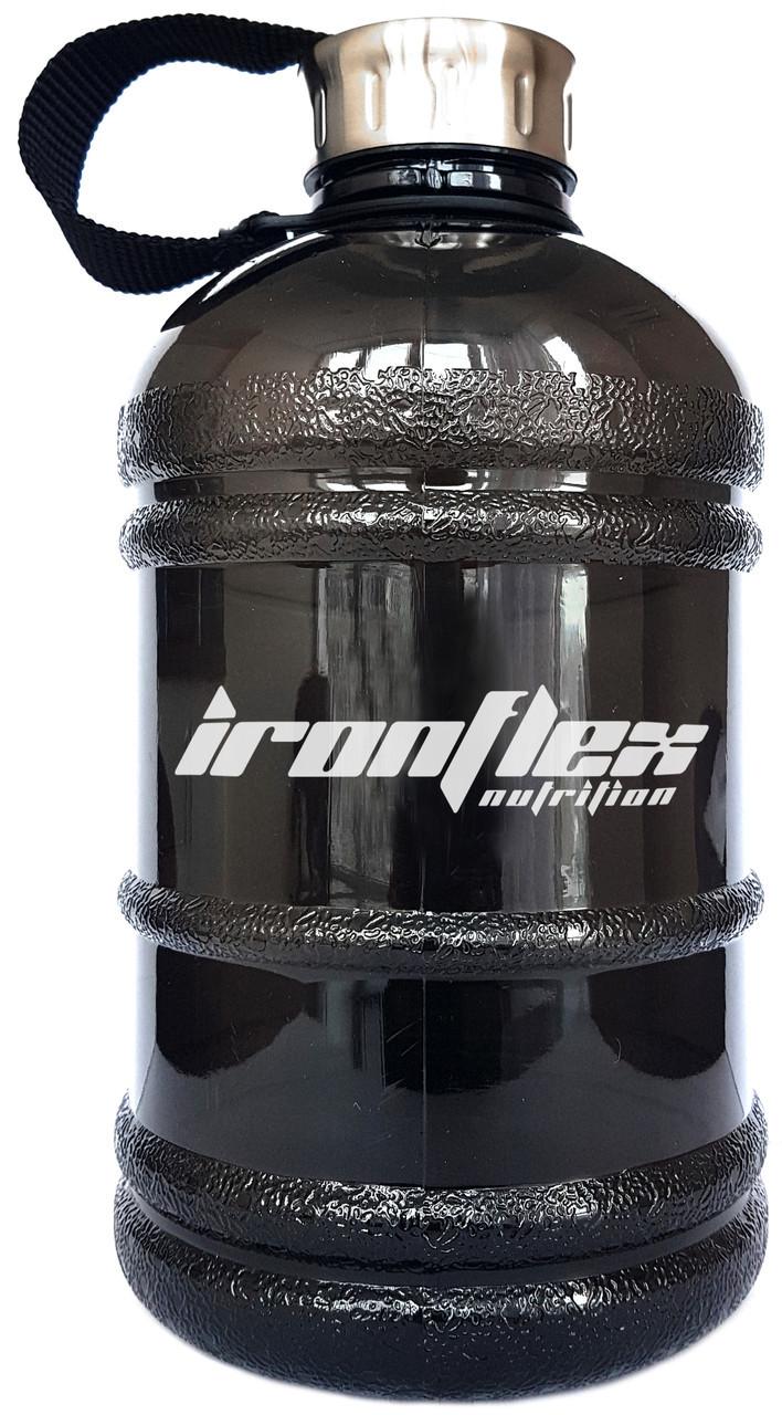 Бутылка Для Воды Gallon Hydrator IronFlex Black (1000 мл.) - Чёрная