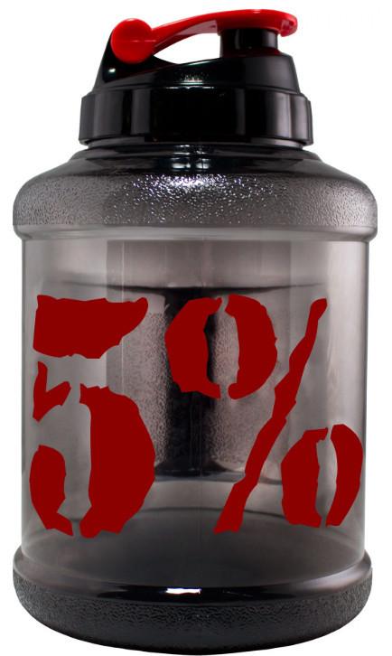 Пляшка Для Води Gallon Hydrator Rich Piana 5% Nutrition (2200 мл) - Чорно-Червона