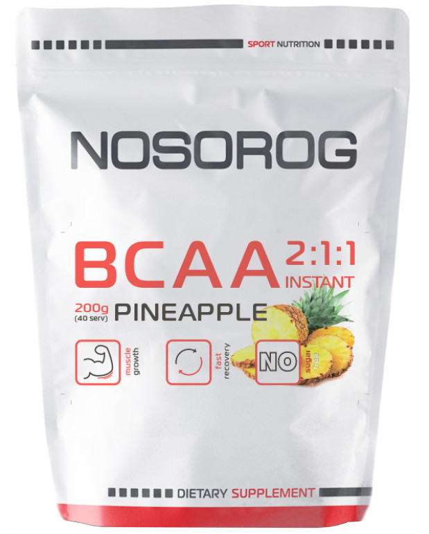 BCAA 2:1:1 Instant Nosorog Sport Nutrition (200 гр.)