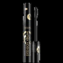 Эвелин Тушь для ресниц экстремальная длина с маслом арганы 4D Extension Volume Eveline Cosmetics, 10 мл