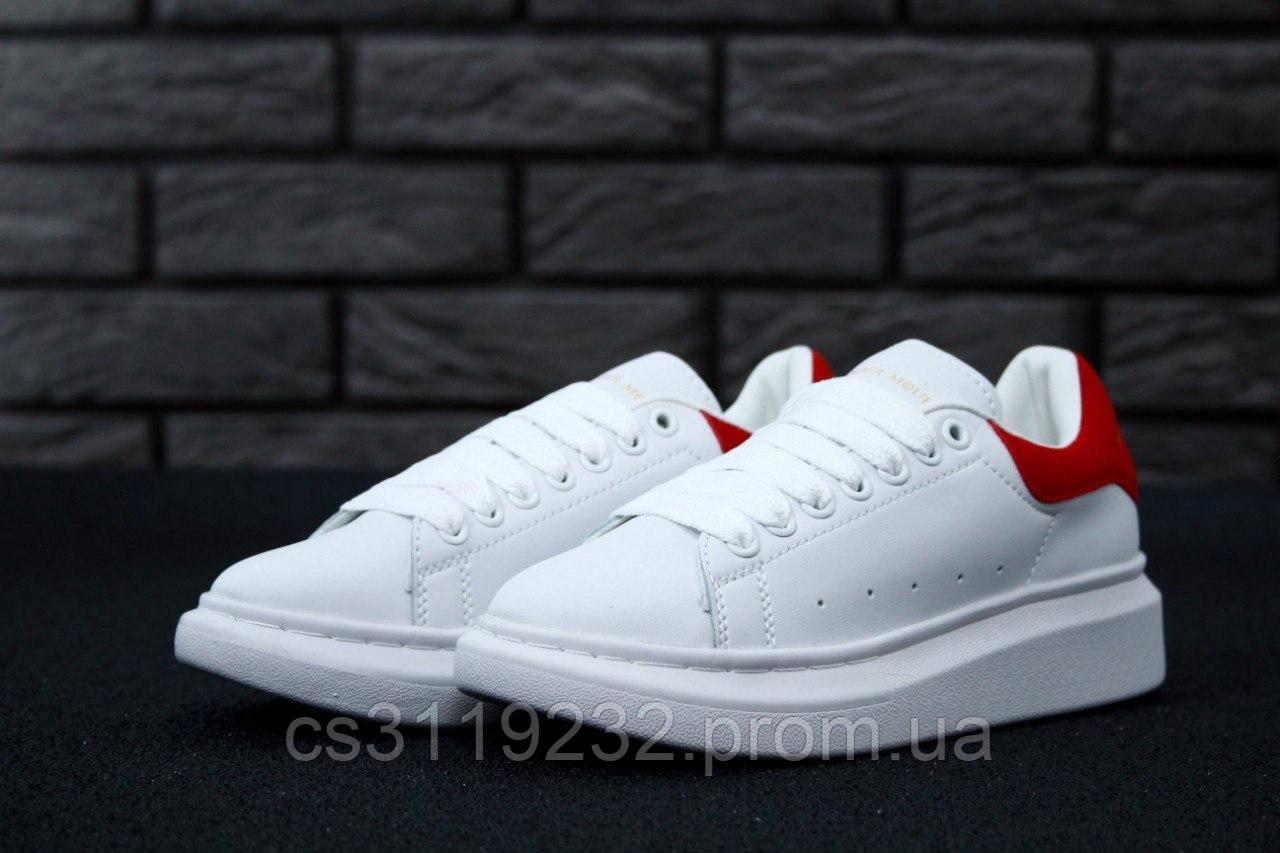 Женские кроссовки White Red (белые)
