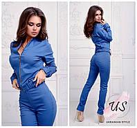 Женский джинсовый брючный костюм. 3 цвета!, фото 1