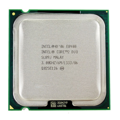 Процессор Intel Core 2 Duo E8400, 2 ядра, 3ГГц, LGA 775