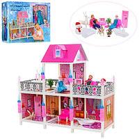Кукольный домик Холодное сердце 112 см Frozen  66906 Снежная королева с мебелью и куклами