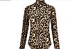 Женский леопардовый сексуальный боди, с высоким воротом и длинным рукавом EIFER Kira, фото 6