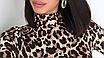 Женский леопардовый сексуальный боди, с высоким воротом и длинным рукавом EIFER Kira, фото 5