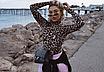 Женский леопардовый сексуальный боди, с высоким воротом и длинным рукавом EIFER Kira, фото 4