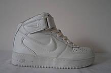 """Белые женские кроссовки """"Nike"""" (высокие)"""
