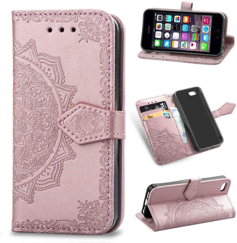 Чехол Vintage для Iphone 6 Plus / 6s Plus книжка кожа PU розовый