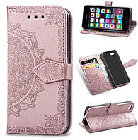 Чехол Vintage для Iphone 6 Plus / 6s Plus книжка кожа PU розовый, фото 1