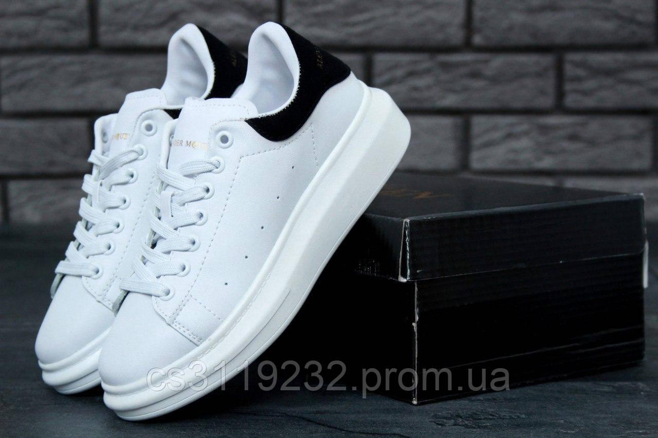 Мужские кроссовки  White Black (белые)