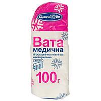 Вата Зиг-заг медицинская нестерильная Белоснежка 100 г