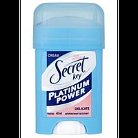 Дезодорант-антиперспирант Secret Platinum Power Delicate  кремовый 40 мл (S10)