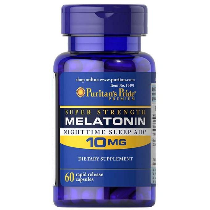 Melatonin 10 MG Puritan's Pride (60 капс.)