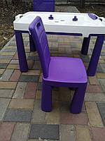 Набір дитячий стіл-трансформер і стілець.