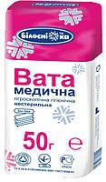 Вата Зиг-заг медицинская нестерильная Белоснежка 50 г