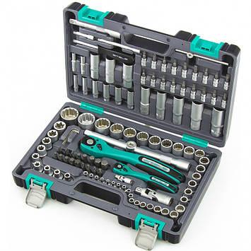 Набор инструментов Stels 14122, 1/2, 1/4, CrV, пластиковый кейс, двенадцатигранные головки, фото 2
