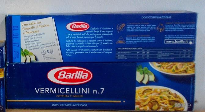 """Итальянская паста Барилла """"Вермишелини"""" #7. 500 грами"""