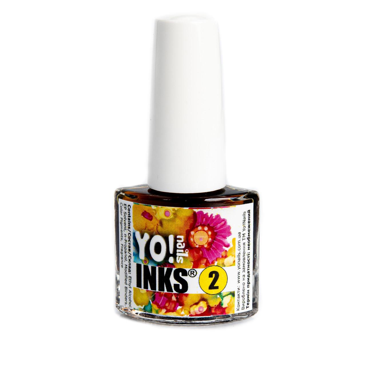 Акварельные чернила Yo!Nails INKS 2 (желтый цвет)