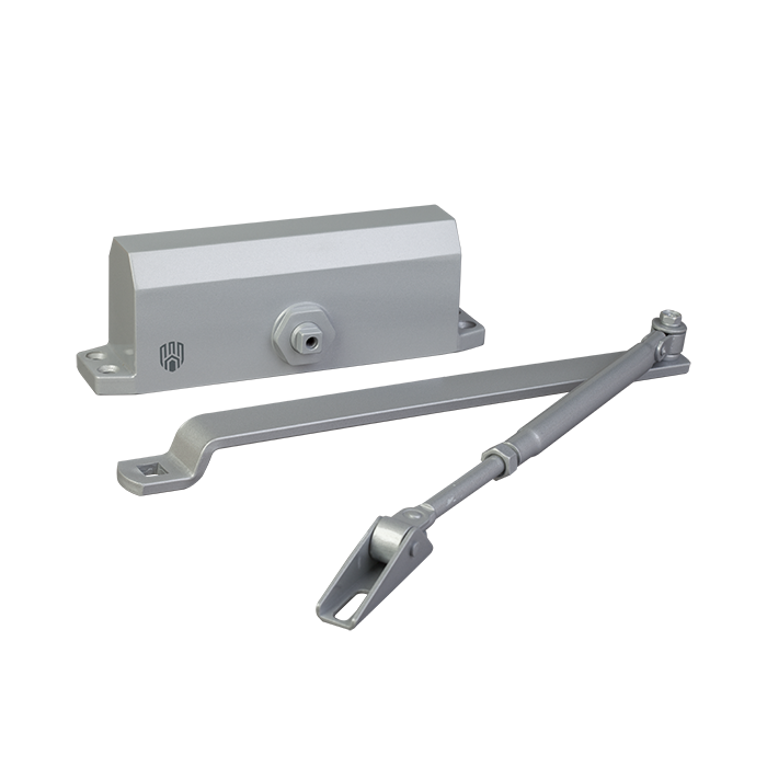 Доводчик дверний DT No.4 алюмінієвий 60-85 кгс