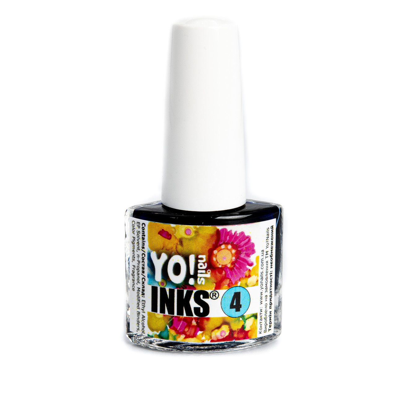 Акварельные чернила Yo!Nails INKS 4 (синий цвет)