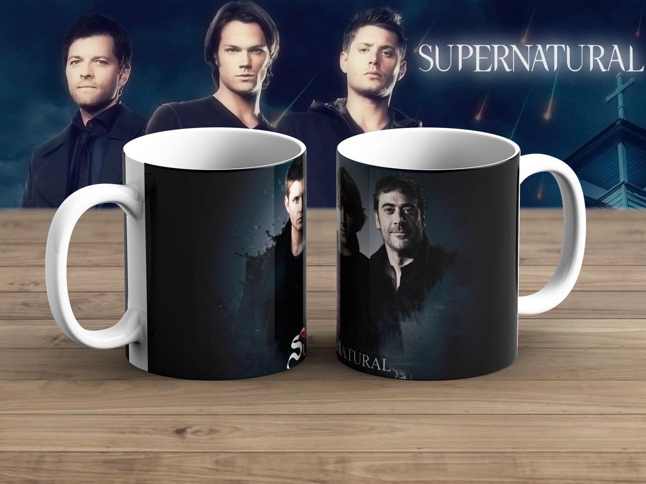 Чашка братья с отцом Сверхъестественное / Supernatural