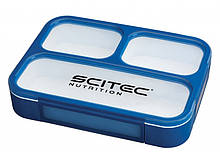 Food Container Scitec Nutrition Blue (1000 мл. + 3 секции) - Синий